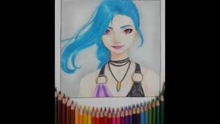 نقاشی دختر(ریونا) برای مسابقه نقاشی کوین