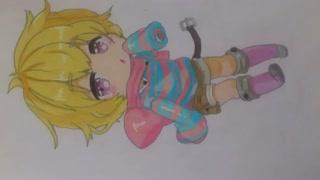 نقاشی چیبی انیمه ای ( ریوسا ) تقدیمی