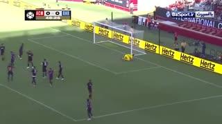 خلاصه بازی آث میلان 1-0 بارسلونا