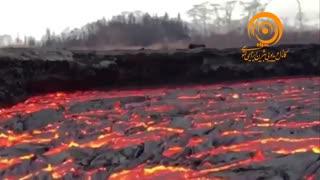 رودخانهای از گدازههای آتشفشان کیلایا در هاوایی