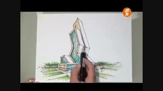 خلاقیت در معماری-  آموزش  اسکیس عمادالدین زند 6
