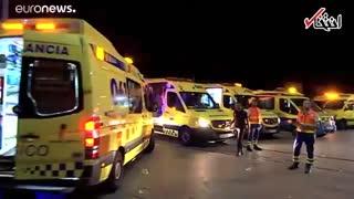 ۳۰۰ زخمی بر اثر سقوط سکو در یک جشنواره موسیقی در اسپانیا