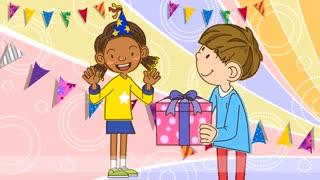 آموزش زبان انگلیسی برای کودکان به روش singsing : آموزش با شعرHappy birthday! This is for you. (Birthday song)