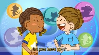 آموزش زبان انگلیسی برای کودکان به روش singsing : آموزش با شعر Do you have pets? I have a dog. (Pet song)