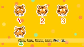 آموزش زبان انگلیسی برای کودکان به روش singsing : آموزش با شعر How many tiger? lions? (Counting animals)