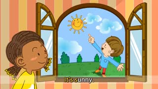 آموزش زبان انگلیسی برای کودکان به روش singsing : آموزش با شعر How's the weather? It's sunny. (Weather)