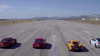 بزرگترین مسابقه درگ با شرکت همزمان 12 خودرو