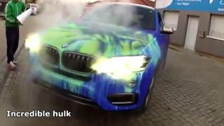 طراحی روی بدنه خودرو که با تغییر دما ظاهر میشود