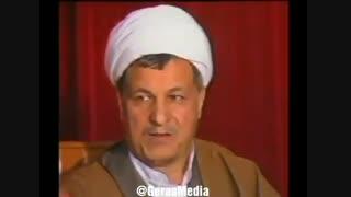 نشست مطبوعاتی هاشمی رفسنجانی در زمستان ۱۳۶۶، در حالی که موشکهای عراقی به نقاط مختلف تهران اصابت میکردند.