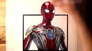 تایم لپس از نقاشی فوق العاده مرد عنکبوتی