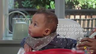 نشانه های آمادگی پذیرش غذای جامد در کودکان
