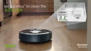 ربات جارو برقی که زبالههایش را خالی میکند