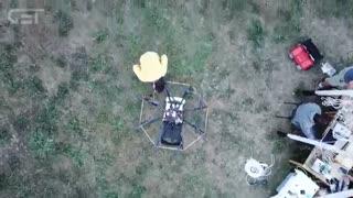 سیستم شارژ چند پهپاد در حین پرواز ابداع شد