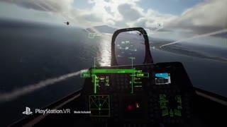 گیم پلی بازی Ace Combat 7 Skies Unknown در حالت واقعیت مجازی