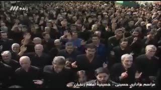 مراسم عزاداری در حسینیه اعظم زنجان