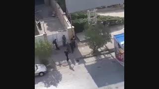 ویدیویی از درگیری نیروهای امنیتی و تروریست ها