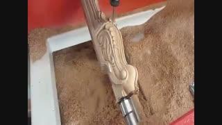 پایه تراشی چوب با دستگاه CNC