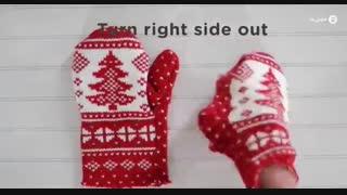 دوخت دستکش زمستانی
