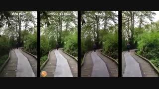مقایسه دوربین آیفون XS Max با گلکسی نوت ۹، وان پلاس ۶ و هواوی P20 پرو