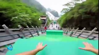 کوه Tianmen در شهر هونان چین بزرگترین مسیر پارکور رو داره!