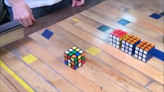درست شدن مکعب روبیک توسط خودش با پرینت سه بعدی