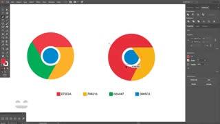 آموزش طراحی لوگو کروم (Chrome) در ایلوستریتور (پیش نمایش)