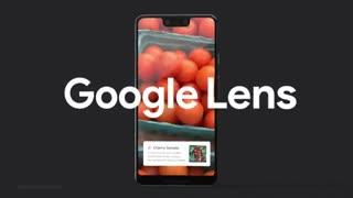 ویدئوی معرفی قابلیت گوگل لنز گوشیهای گوگل پیکسل 3