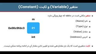 آموزش برنامه نویسی به زبان ++C - جلسه سوم : متغیرها و ثابت ها در ++C