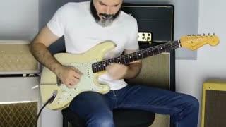 کاور فیک لاو بی تی اس گیتار الکتریک...bts fake love cover