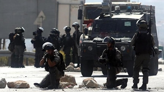 لحظه تیرخوردن خبرنگار زن توسط نظامیان اسرائیلی