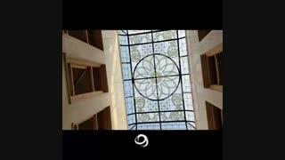 فیلم سقف نورگیر شیشه ای مسجد جابری بندر عباس  - نصب و جایگذاری - پروژه شرکت کاژه