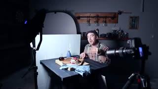 عکاسی غذا با نور کم هزینه