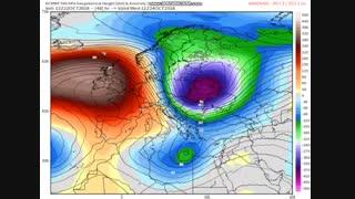 ورود سامانه طوفانزا به منطقه و کشور