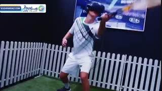 بازی تنیس در واقعیت مجازی با هدست اچ تی سی