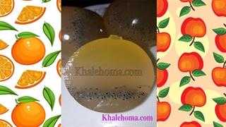 ژله کروی تخم شربتی پاییزی با طعم سیب و پرتقال