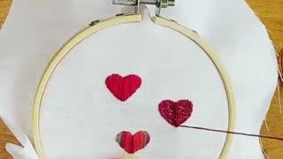 گلدوزی قلب
